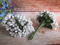 Сложные тычинки, БЕЛЫЕ, 12 шт. на проволоке, фото 1