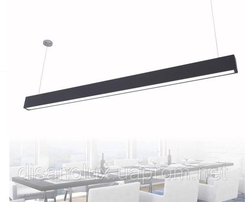 Светильник подвесной линейный LED   LD -70 1,40м  70W 4500K, 220В IP44 черный