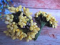 Сложные тычинки, ЖЕЛТЫЕ, 12 шт. на проволоке, фото 1