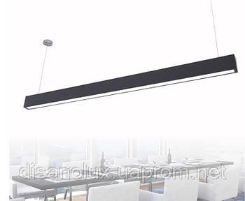 Светильник подвесной линейный диммируемый LED LD -70 1,40м 70W 3000K-6500К, 220В IP44 черный