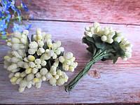 Сложные тычинки, ЛИМОННЫЕ, 12 шт. на проволоке