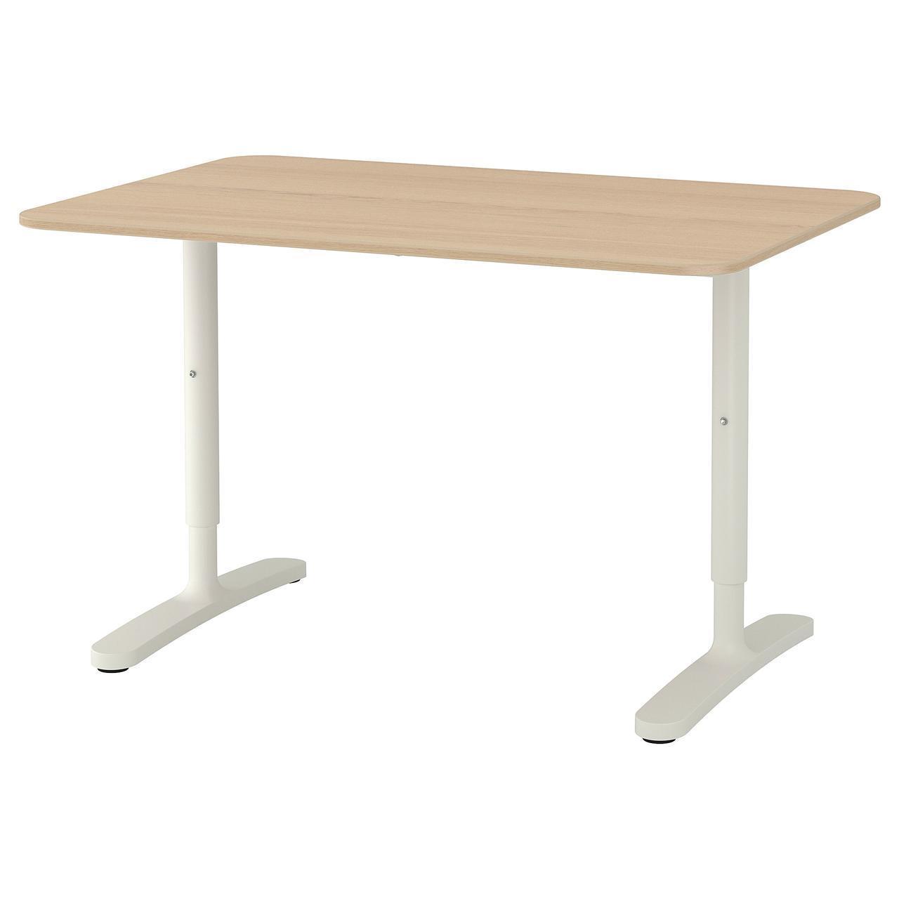 Комп'ютерний стіл IKEA BEKANT 120x80 см дубовий шпон білий 892.825.91