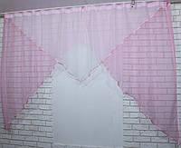 Кухонный комплект №9. Цвет розовый с белым