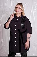 Рубашка женская с вышивкой на груди, с 48-82 размер, фото 1