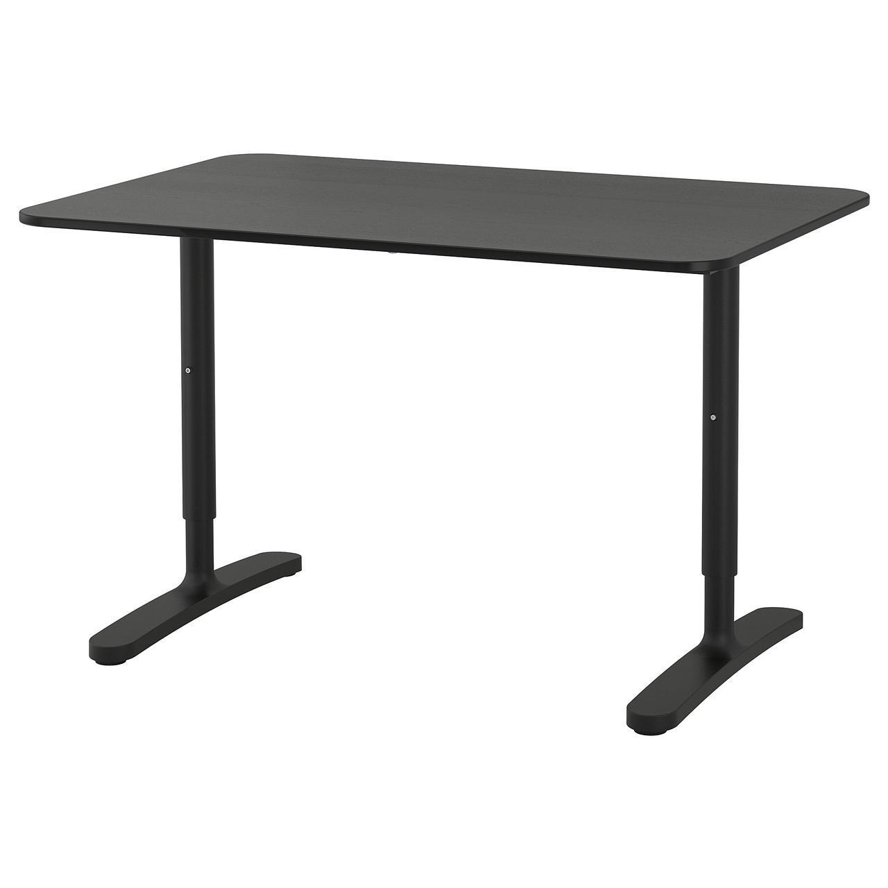 Компьютерный стол IKEA BEKANT 120x80 см черный 592.825.83