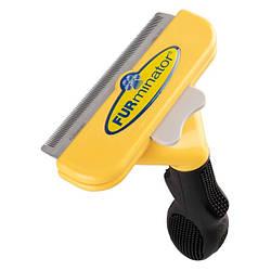 Фурминатор щетка для шерсти для крупных собак с короткой шерстью FURminator 10 см с кнопкой