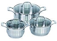 Комплект кастрюль качественная посуда Barton Steel BS 6566 6 предметов набор посуды