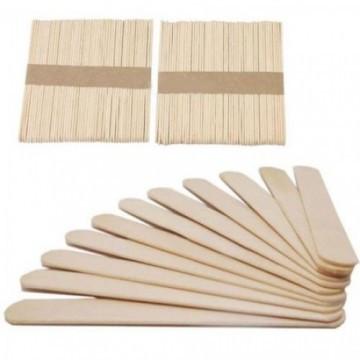 Шпатель дерев'яний одноразовий для депіляції, 100 штук