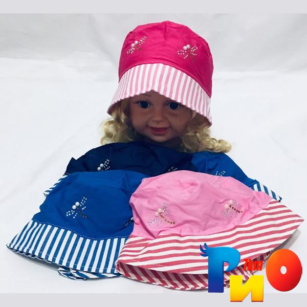 Детскаялетняя панама, стрекоза,  для девочек  р-р 48-50, (5 ед в уп)