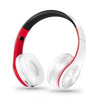 Наушники беспроводные  с микрофоном (white red)