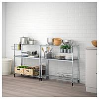 Стеллаж IKEA OMAR 211x36x94 см 2 секции 392.790.44