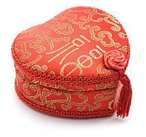 "Шкатулка ""сердечко"" с вышивкой (10,5х11,5х5,5 см)"
