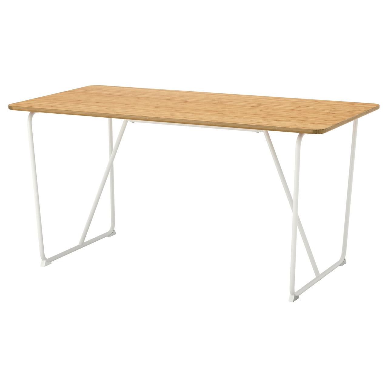 Стіл IKEA ÖVRARYD Backaryd бамбук білий 791.407.00