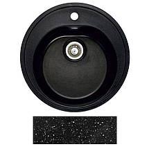 Гранитная мойка Fosto D470 SGA-420 (черный), фото 2