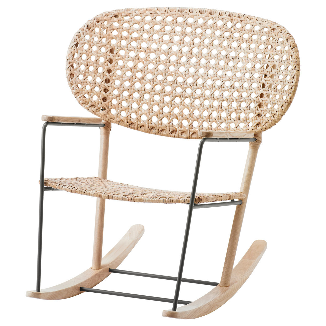 GRÖNADAL Кресло-качалка детское, серый, натуральный 903.200.97