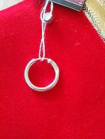 Серебряная серьга кольцо 925 пробы