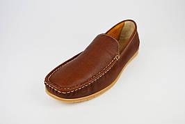 Мокасины коричневые кожаные Tapi 6371