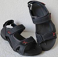 Ессо biom! Мужские сандалии синяя кожа качественная босоножки Экко биом