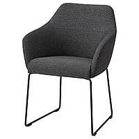 Кресло IKEA TOSSBERG металл черное серое 904.353.24