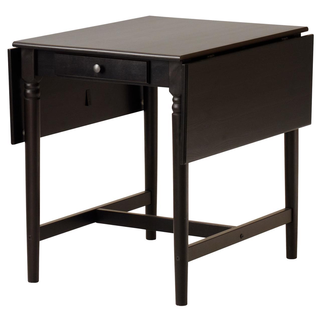 Кухонный стол IKEA INGATORP 65/123x78 см черно-коричневый 404.231.06