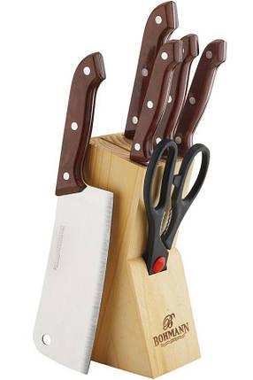 Кухонні ножі BH-5127 MRB набір ножів на дерев'яній підставці 7 предметів зручні ножі, фото 2