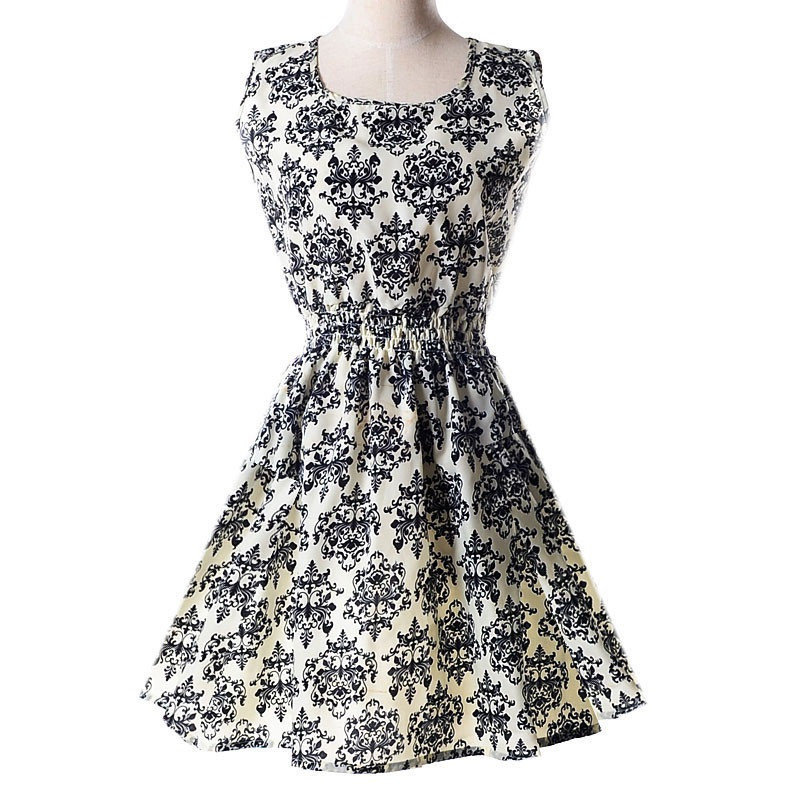 Платье сарафан летнее с абстракцией  Liva Girl