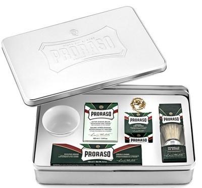 Набор для бритья в металлической коробке Classic Shaving Set Metal Proraso