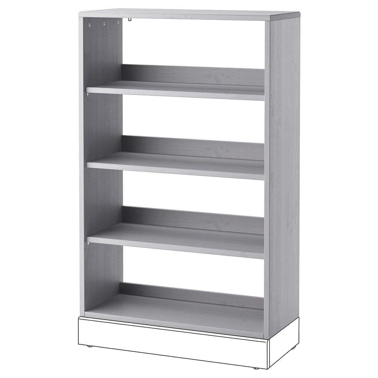 Стеллаж IKEA HAVSTA 81x123x35 см серый 204.151.93