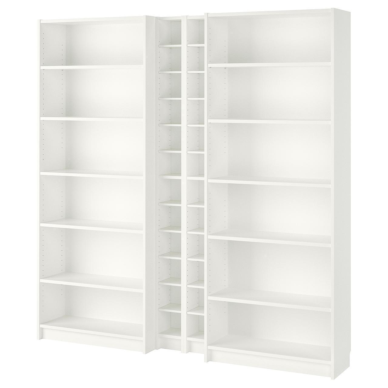 Стеллаж IKEA BILLY / GNEDBY 200x202x28 см белый 990.178.36