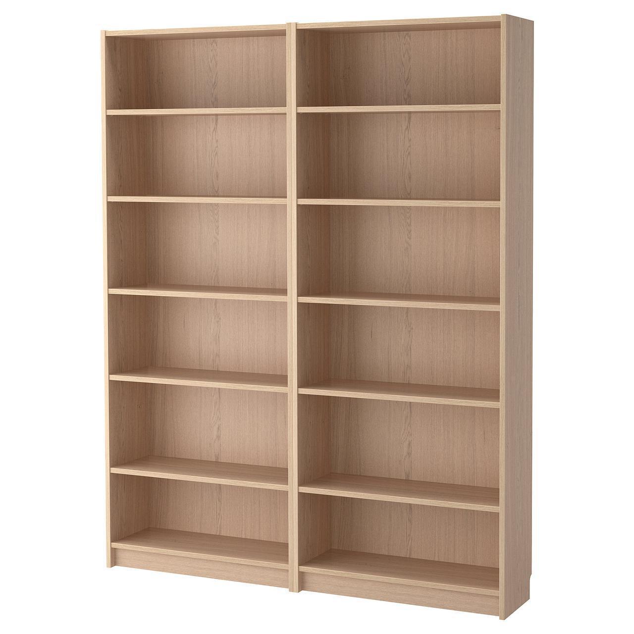 Стеллаж IKEA BILLY 160x202x28 см беленый дуб 192.499.44