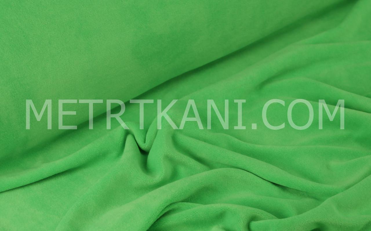Велюр х/б   салатового цвета, ширина 180см № В-023