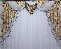 Ламбрекен из плотной ткани на карниз 2м. Код 119л101(Б)