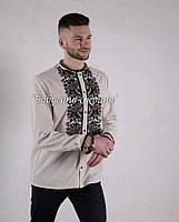 Заготовка чоловічої сорочки для вишивки нитками/бісером БС-140ч, фото 1