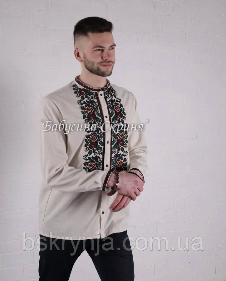 Заготовка чоловічої сорочки для вишивки нитками/бісером БС-140ч