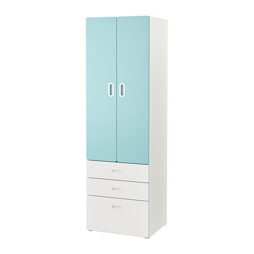 Шкаф / гардероб IKEA STUVA / FRITIDS  60x50x192 см голубой 592.529.96