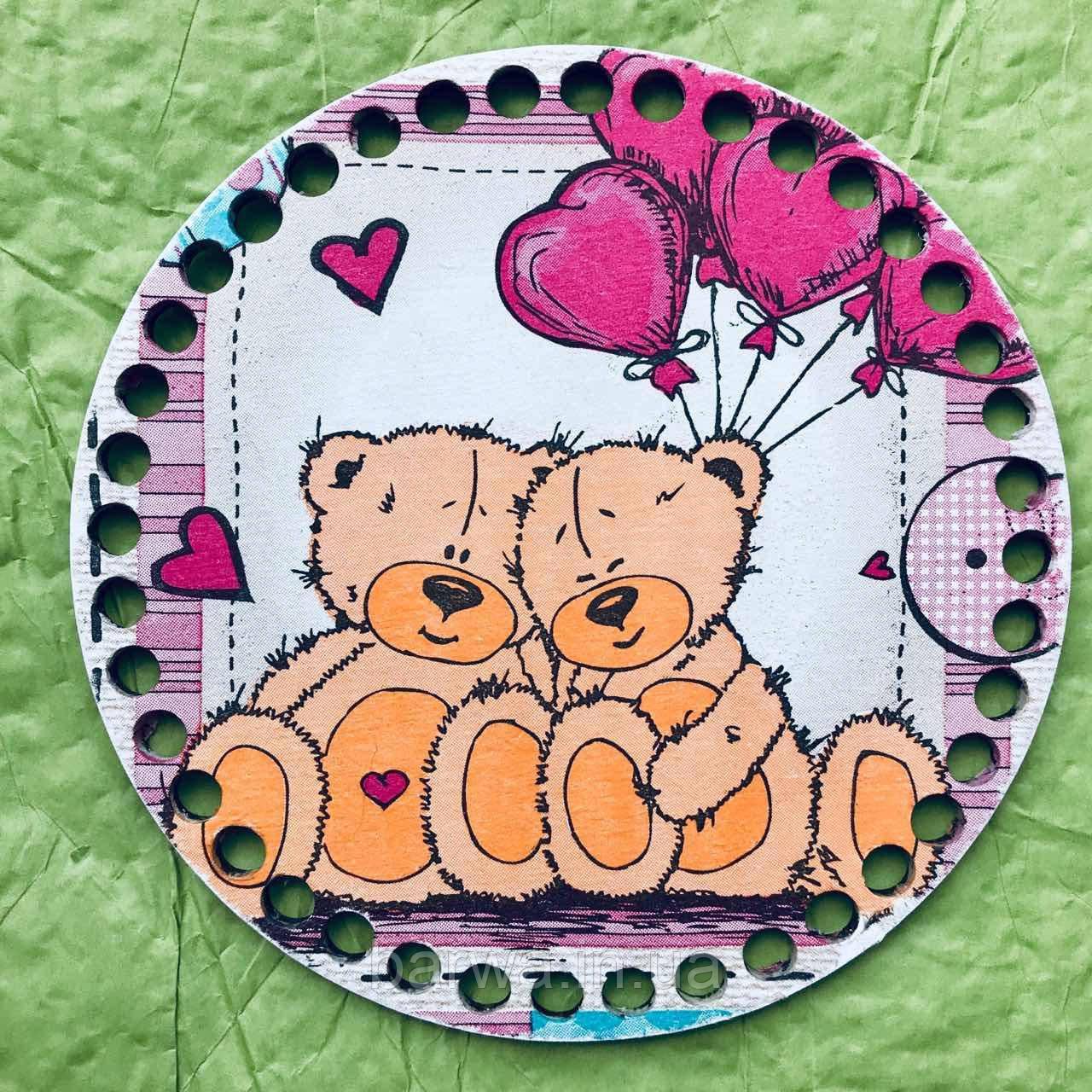 Круглое цветное дно, Тедди 01, 15 см