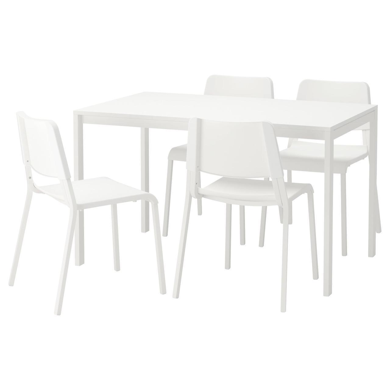 Комплект для кухни (стол и 4 стула) IKEA MELLTORP / TEODORES белый 792.860.33