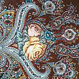 Испанское вино 1171-17, павлопосадский платок шерстяной  с шелковой бахромой, фото 3