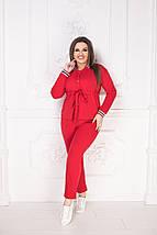 """Брючный женский костюм """"Emmy"""" с поясом (большие размеры), фото 3"""