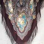 Испанское вино 1171-17, павлопосадский платок шерстяной  с шелковой бахромой, фото 6