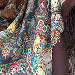 Испанское вино 1171-17, павлопосадский платок шерстяной  с шелковой бахромой, фото 7