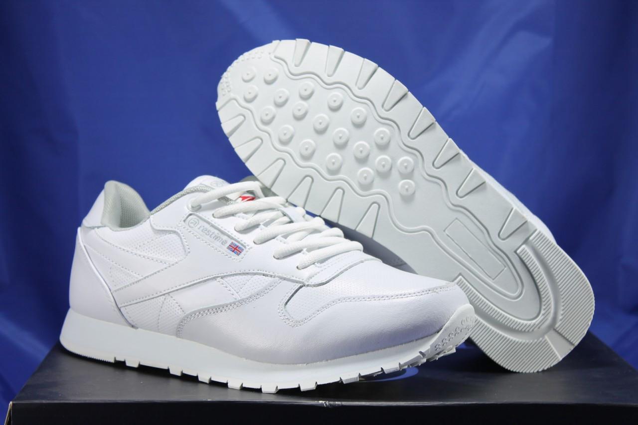 Мужские белые кроссовки в стиле Reebok Classic