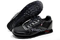 Кроссовки мужские в стиле Reebok Classic Leather, Alter the Icons,Черные