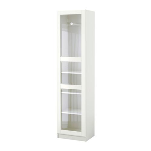 Шкаф IKEA PAX 50x38x201 см стекло Tyssedal белый 691.710.37