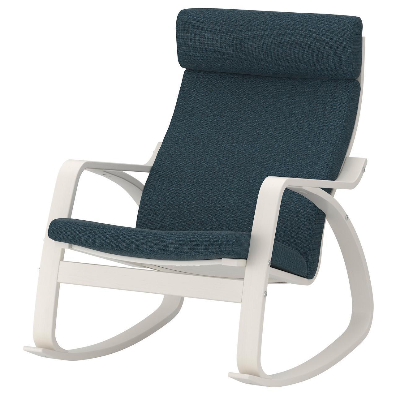 Кресло-качалка IKEA POÄNG Hillared темно-синее 192.010.70