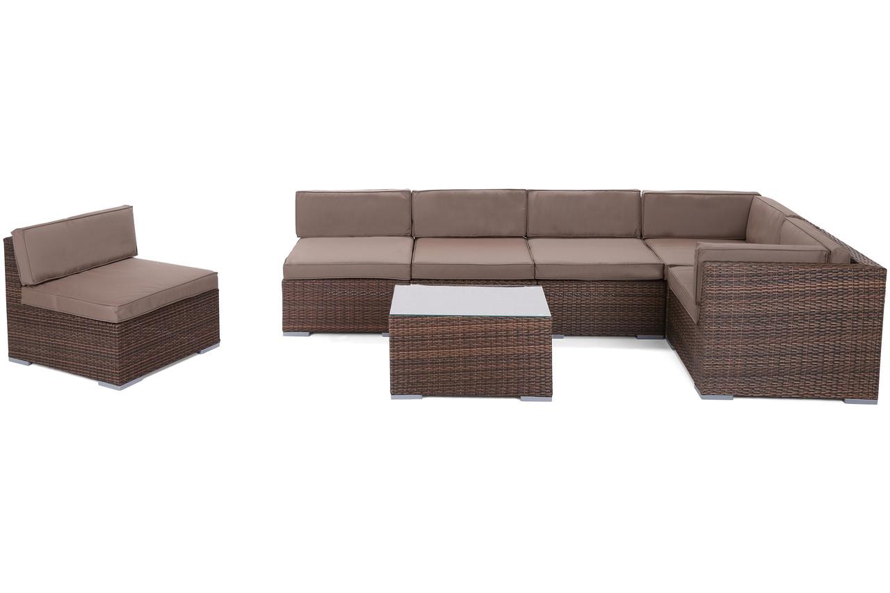 Комплект меблів з техноротангу KANSAS MAXI (коричневий)