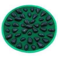 Массажный (ортопедический) коврик дорожка для детей с камнями круглая D=30cm D300