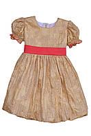 """Платье нарядное детское  с поясом М -1030  рост 92 на х\б подкладе тм """"Попелюшка"""", фото 1"""