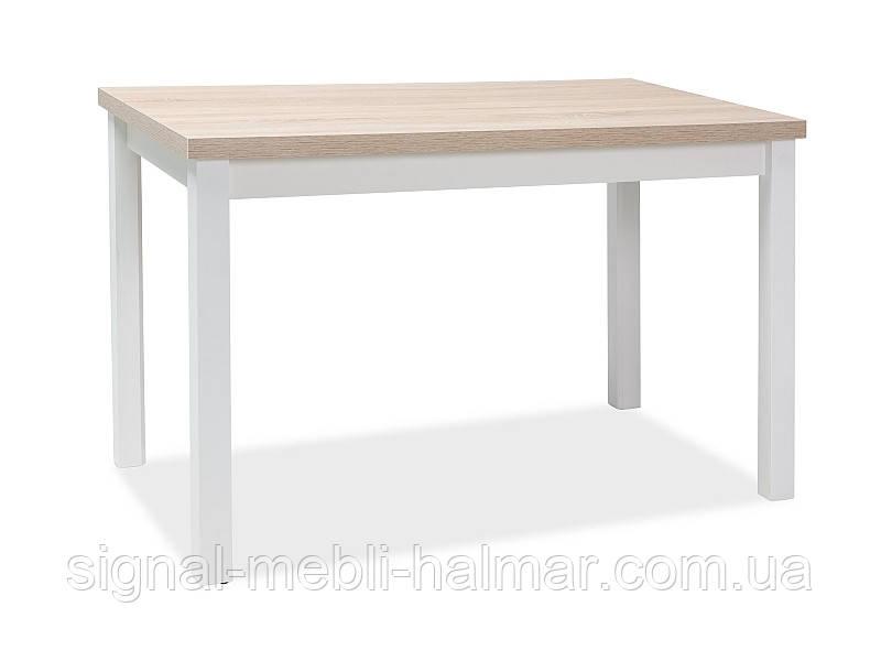 Кухонный стол ADAM DĄB SONOMA / БЕЛЫЙ МАТ 100x60(Signal)