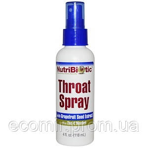 Спрей для горла, NutriBiotic (118 мл)
